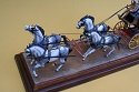 Large Scale Model Wells Fargo Coach and Team of Horses