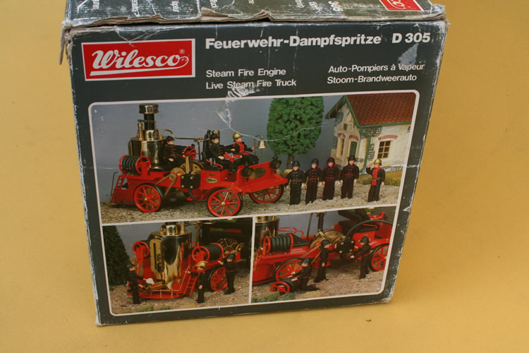 WILESCO Model Live Steam Fire Engine